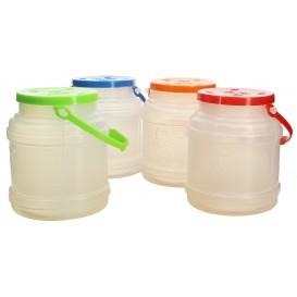 Bouteille Plastique Transp. translucide avec Anse 500 ml (10 Utés)