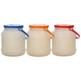 Plastic melk Container met handvat en Deksel 500 ml (10 stuks)