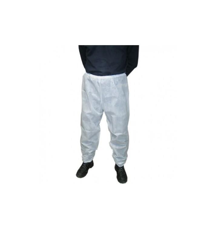 Pantalon PP Non Tissé Industriel Blanc (100 Utés)