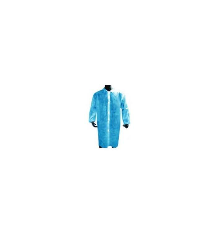 Blouse Industrielle en PE avec bouton Bleu (100 Utés)