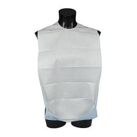 Wegwerp volwassen slabbetje met zak wit Economen 36x65cm (125 stuks)