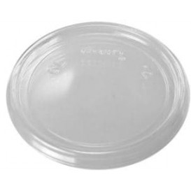 Plastic Deksel Plat transparant Ø7,4cm (100 stuks)