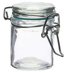 Mini Bocal en Verre Hermétique 45 ml Ø4,5x6 cm (24 Utés)