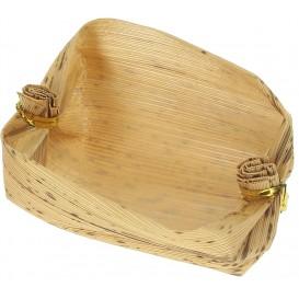 Mini Panier Bambou Dégustation 3,8x5,8x3,8cm (25 Utés)