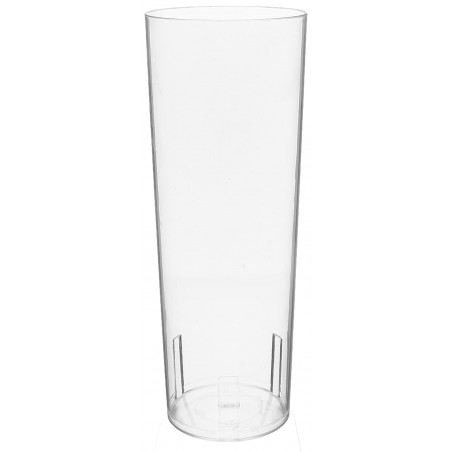 Verre Tube 330ml Transparent Cristal PS (10 Utés)