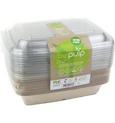 Kit Boîtes en Canne à Sucre+couvercles 230x160x50mm (6 Kits)