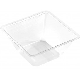 Bol mini en Plastique PET Thermo-Scellable 250ml 90x90x60mm (600 Utés)