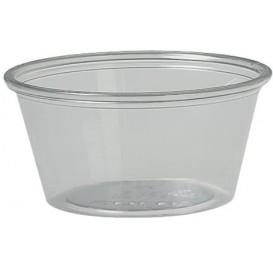Pot à Sauce Plastique rPET Cristal 60ml Ø6,6cm (2500 Utés)