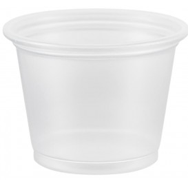 Pot à Sauce Plastique PP Trans. 30ml Ø48mm (125 Utés)