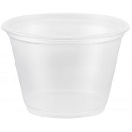 Pot à Sauce Plastique PP Trans. 75ml Ø6,6cm (125 Utés)