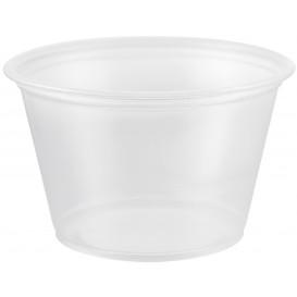 Pot à Sauce Plastique PP Trans. 120ml Ø7,3cm (125 Utés)