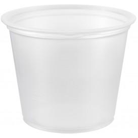 Pot à Sauce Plastique PP Trans. 165ml Ø7,3cm (125 Utés)