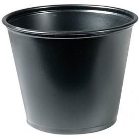 Pot à Sauce Plastique PP Noir 165ml Ø7,3cm (125 Utés)