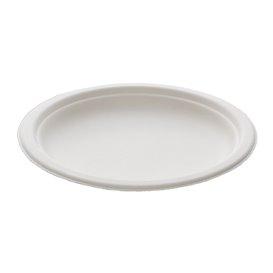 Suikerriet bord wit Ø18 cm (25 stuks)