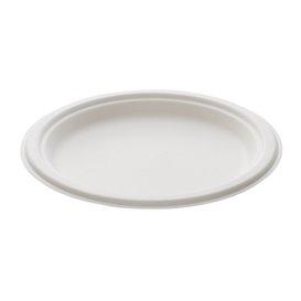 Suikerriet bord wit Ø23 cm (25 stuks)