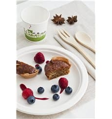 Assiette Bio en Canne à Sucre Blanc Ø260mm (250 Utés)