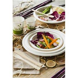 Assiette Bio en Canne à Sucre Blanc Ø230mm (25 Unités)