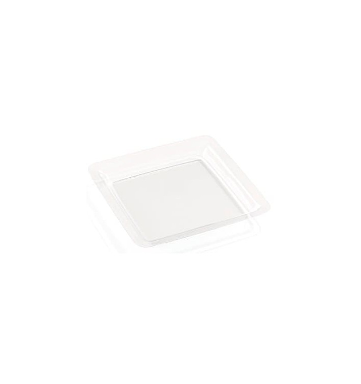 Assiette Transparente Plastique Dur 22,5x22,5cm (6 Utés)