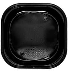 Assiette Plastique PS Carrée Noir 200x200mm (720 Utés)