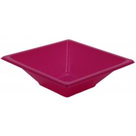 Bol carré en plastique Fuchsia 120x120x40mm (25 Utés)