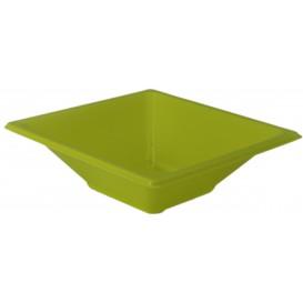 Plastic kom PS Vierkant pistache 12x12cm (12 stuks)