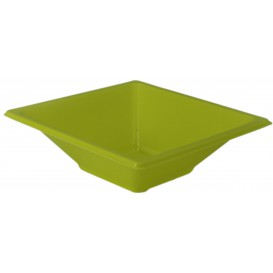 Plastic kom PS Vierkant pistache 12x12cm (1500 stuks)