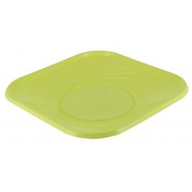 "Plastic bord PP ""X-Table"" Vierkant Lime 18 cm (8 stuks)"