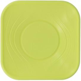 """Bol Plastique PP Carré """"X-Table"""" Vert 18x18cm (8 Utés)"""