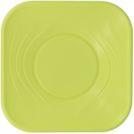 "Plastic Kom PP Vierkant ""X-Table"" Lime 18x18cm (8 stuks)"