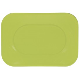 """Plastic dienblad microgolfbaar """"X-Table"""" limoengroen 33x23cm (60 stuks)"""