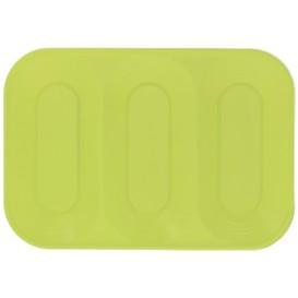 """Plastic dienblad microgolfbaar """"X-Table"""" 3C limoengroen 33x23cm (30 stuks)"""