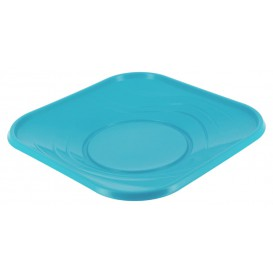 """Assiette Plastique PP """"X-Table"""" Turquoise 180mm (120 Utés)"""