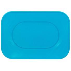 """Plateau Plastique PP """"X-Table"""" Turquoise 330x230mm (60 Utés)"""