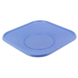 "Plastic bord PP ""X-Table"" Vierkant paars 18 cm (8 stuks)"