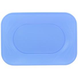 "Plastic dienblad microgolfbaar ""X-Table"" paars 33x23cm (60 stuks)"