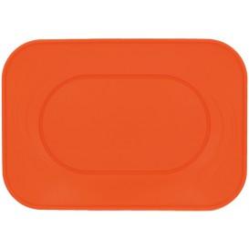 """Plastic dienblad microgolfbaar """"X-Table"""" oranje 33x23cm (60 stuks)"""