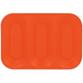 """Plastic dienblad microgolfbaar """"X-Table"""" 3C oranje 33x23cm (30 stuks)"""