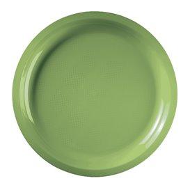 Assiette Plastique Réutilisable Vert citron PP Ø290mm (300 Utés)