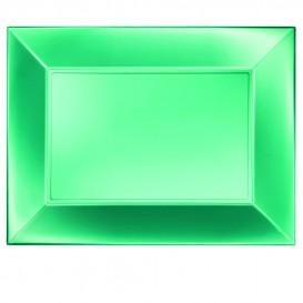 """Plastic dienblad microgolfbaar groen """"Nice"""" 34,5x23cm (6 stuks)"""