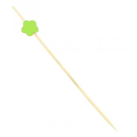 """Pique en bois """"Flor"""" Vert 120mm (5.000 Unités)"""