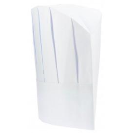 Toque Cuisinier Continental Papier Blanc (10 unités)