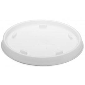 Plastic PS Deksel met rietsleuf transparant Ø8,1cm (1000 stuks)