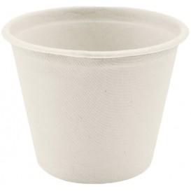 Pot Bio en Canne à Sucre Blanc Ø110mm 450ml (50 Utés)
