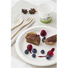 Assiette Bio en Canne à Sucre Blanc Ø180mm (25 Unités)