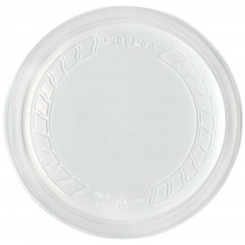 """Couvercle Plastique PP """"Deli"""" Translucide Ø120mm (50 Unités)"""