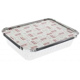 Couvercle Carton Barquette Aluminium 590ml (100 Unités)