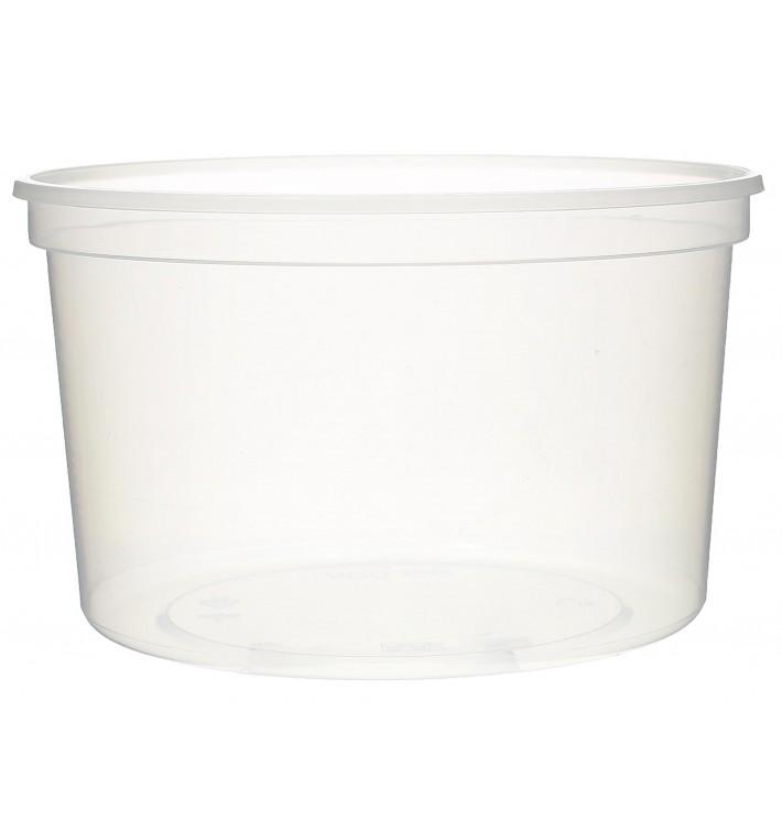Pot en Plastique Transparent 500ml  Ø11,5cm (50 Utés)