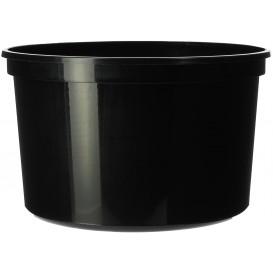 Plastic deli Container zwart PP 500ml Ø11,5cm (50 stuks)