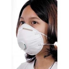 Masque Jetable Respiratoire à Valve FFP2  Blanc (10 Unités)