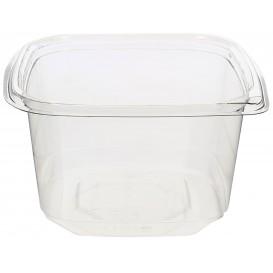 Plastic deli Container PET onverbrekelijk 600ml 12x12x7cm (50 stuks)